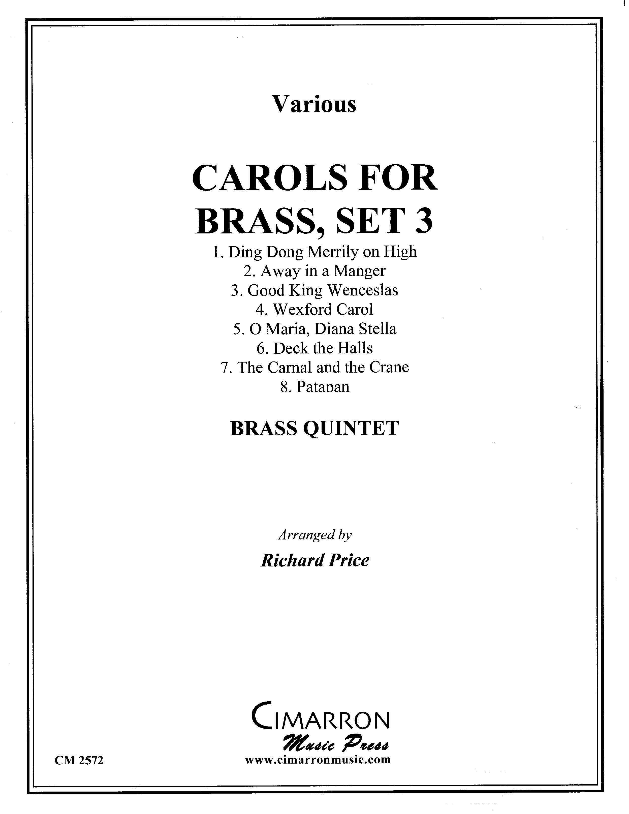 Carols for Brass, Set 3 arranged by Richard Price