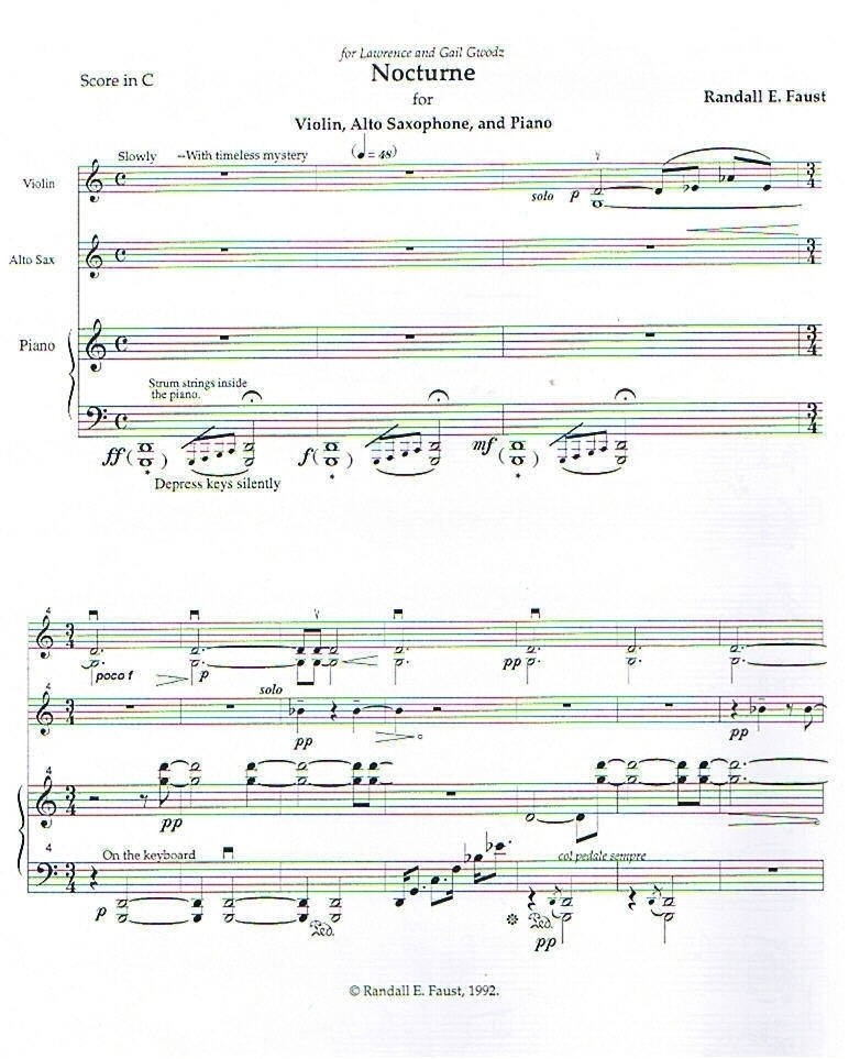 Nocturne for Alto Saxophone, Violin, and Piano (1992)