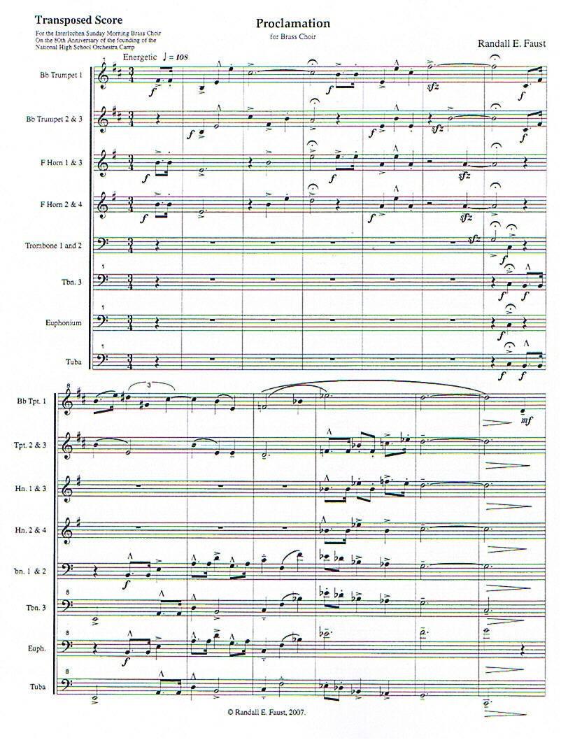 Proclamation for Brass Choir
