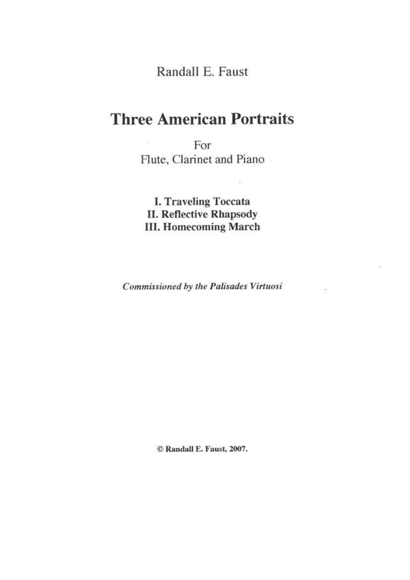 Three American Portraits for Flute, Clarinet and Piano