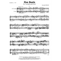 Five Duets for Trumpet and Horn by William Presser