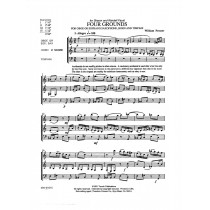 Four Grounds for Oboe or Soprano Saxophone, Horn and Timpani by William Presser