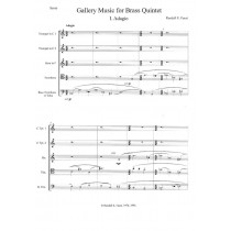 Gallery Music for Brass Quintet (1976)