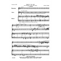 Praise Ye The Lord for Soprano, Horn, and Piano by William Presser