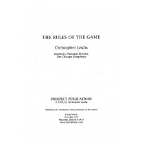 The Rules of the Game by Christopher Leuba