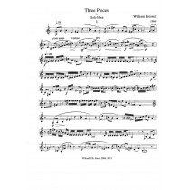 Three Pieces for Solo Horn by William Presser