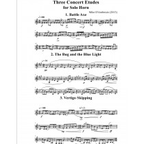 Three Concert Etudes for Solo Horn by Mike D'Ambrosio (2013)