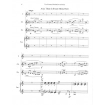 Two Poems, Recitative and Aria for Soprano, Oboe, Horn, and Piano by Harold A. Kafer