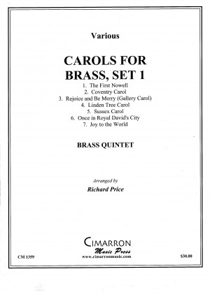 Carols for Brass, Set 1 arranged by Richard Price