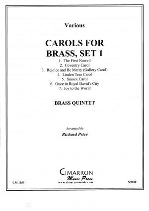 Carols for Brass, Set 1 arranged by Richard Price