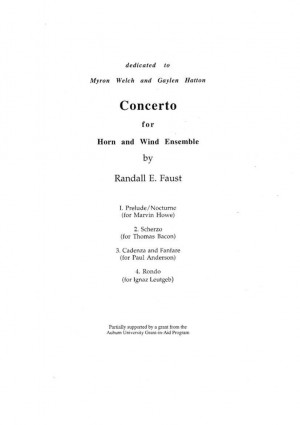 Concerto for Horn and Wind Ensemble (1987)