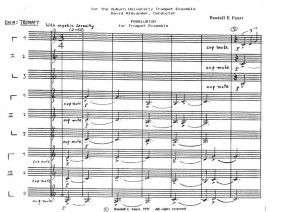 Praeludium for Trumpet Ensemble (1991) (Nine Trumpets)