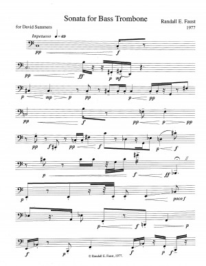 Sonata for Bass Trombone (1976)