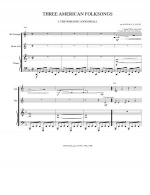 Three American Folksongs THP