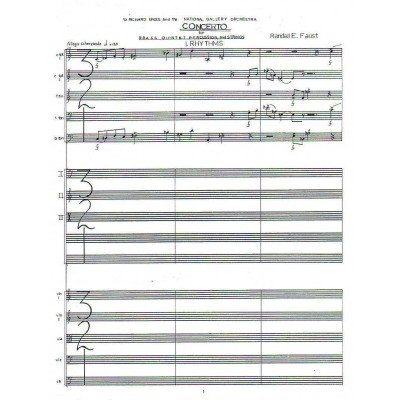 Concerto for Brass Quintet, Percussion and Strings (1977)