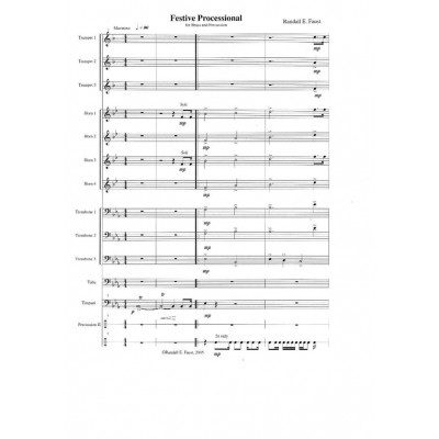 Festive Processional for Brass and Percussion (2005)