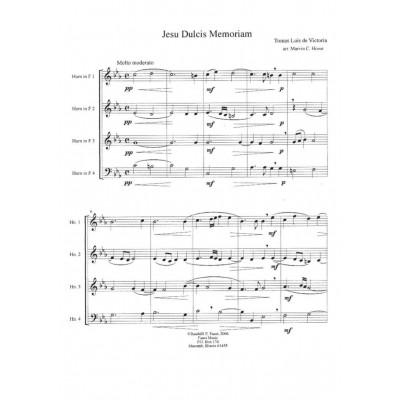 Jesu Dulcis Memoriam by Tomas Luis de Victoria arranged for Horn
