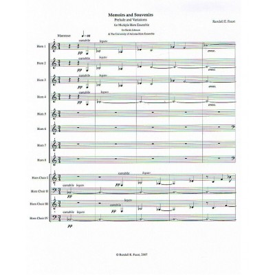 Memoirs and Souvenirs - Prelude and Variations for Multiple Horn