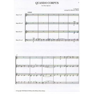 Quando Corpus for Horn Quartet