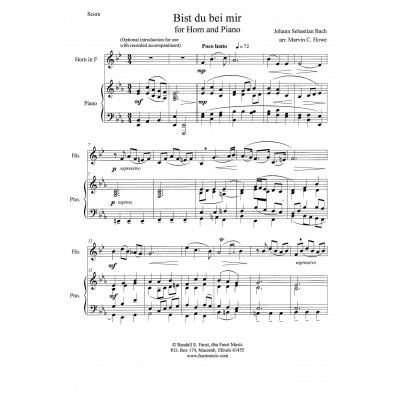 The Solo Hornist for Horn & Piano