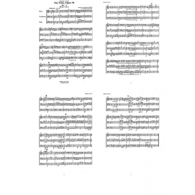 10 Trios, Opus 30 for Horn, Trombone, and Tuba by Antonie-Louis Clapisson