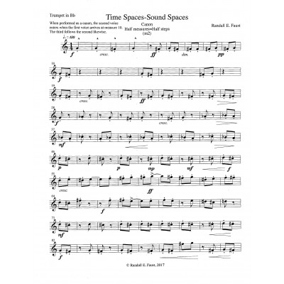 Time Spaces/Sound Spaces - TRUMPET in B-flat