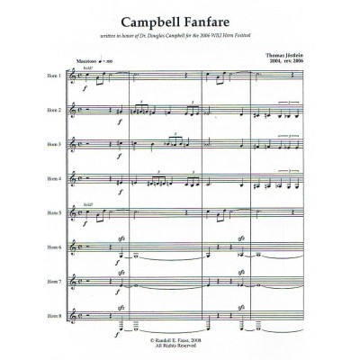 Campbell Fanfare for Horn Octet by Thomas Jöstlein
