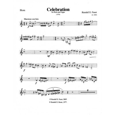 Celebration for Horn and Organ (1974)