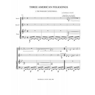 Three American Folksongs 2H&P